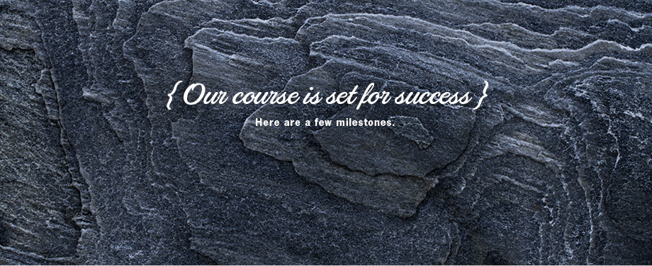 Our course is set for success